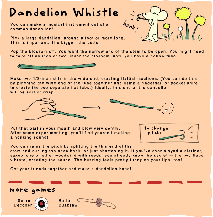 Dandelion Whistle